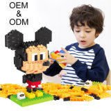 Wange embroma diversos bloques huecos que se enclavijan creativos de aprendizaje del diseño 3D de los juguetes