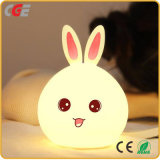[لد] [تبل لمب] أرنب [لد] لين [ليغت كلور] يغيّر سليكوون غرفة نوم [لد] ليل مصابيح