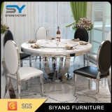 米国のフランス様式の家具の円卓会議のガラスダイニングテーブル