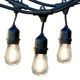Wasserdichtes anschließbares LED Zeichenkette-Licht des neues des Entwurfs-48FT im Freien helles der Zeichenkette-E26 E27 S14 Edison Birnen-enthaltenes Weihnachten