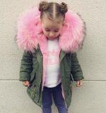 Мех Куртка на складе, Parka чехол для детей, Детский мех Parka нанесите на