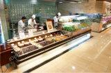Abrir el contador de la visualización del servicio del uno mismo del refrigerador de la carne fresca para el supermercado