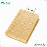 Serveur USB en bois en forme de livre 8 Go de capacité complète (WY-W10)