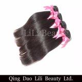 二重Weftミンクのブラジルの毛の織り方は100つの人間の毛髪の自然な毛の拡張をまっすぐに束ねる
