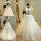 Мантия платья венчания высокого выпускного вечера втулки краткости ворота Bridal