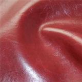 Couro Sintético de PVC Crazy Horse de topo para mobiliário de estofamento