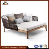 Cuerda nueva colección de madera Muebles de jardín tumbona (WF0610)