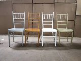 백색 방석을%s 가진 2018의 금속 금 연회 Chiavari 의자 정원 Tiffany 의자