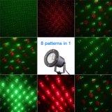 크리스마스 Laser 영사기 8 패턴 옥외 레이저 광