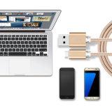 2 in 1 Blitz umsponnenem USB-Daten-Mikrokabel