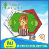 Изготовленный на заказ логос Cmyk значка талрепа кнопки олова алюминиевым напечатанный Silkscreen