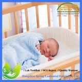방수 대나무 누비질된 아기 패드 덮개