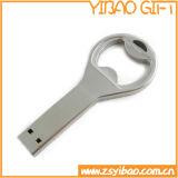 Изготовленный на заказ консервооткрыватель бутылки логоса с Keyring металла (YB-LY-O-01)