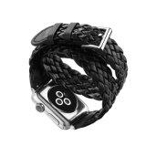 Bracelet de montre 42mm noir de cuir d'armure de couleur du modèle 38mm de mode de prix usine