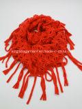 Акрил моды леди зимой тепло из скрытых полостей красный трикотажные горловины Шарфа