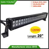 20 polegadas 120W Barra de luz LED LED de luz LED LED Barra de Luz de Trabalho com tampa preta