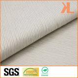 Prodotto a prova di fuoco intessuto a strisce bianco della tenda/sofà del jacquard inerentemente ignifugo del poliestere