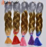 Выдвижение 100% волос Jumbo оплетки Kanekalon оплетки Hai синтетическое Lbh 058