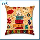 Горячие украшения рождества в домашний случай крышки подушки джута северного оленя