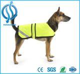 Vestes reflexivas de Secutity do animal de estimação das combinações do cão amarelo