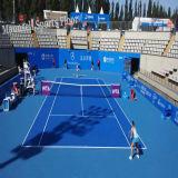 De PVC de alta calidad de suelos deportivos Inroll para tenis Indoor en el rodillo