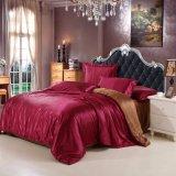 Jeu en soie de linge de lit de chambre à coucher de satin à la maison de textile