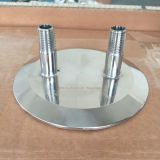 Sanitary Ss304 Tri Clamp Customized 12 Inch Cap with NPT Fittings