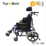 Topmediの横たわるあと振れ止めの脳性麻痺のCPの子供の車椅子