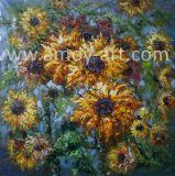 Растянуть тяжелой нефти Sun Flower Картины маслом для дома украшения