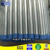 Tubo de aço galvanizado com tampa de plástico