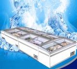 Низкий уровень потребления коммерческих опускное стекло задней двери морозильный аппарат с полкой