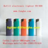 Isqueiro Piezo elétrico plástico Fh-809 da cópia do logotipo do uso do cigarro do isqueiro de gás