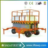 Elevador de tesoura hidráulica móvel de mesa de 6m a 12m 500kg