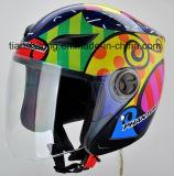 2017の新しい高品質の開いた表面安全ヘルメットのオートバイのヘルメットは表面舵輪の工場価格を開く