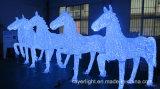 Le beau motif de l'animal DEL allume les lumières carrées de décoration de stationnement