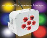 6 pedazos de 10W RGBW 4 en 1 luz con pilas sin hilos de la IGUALDAD del LED