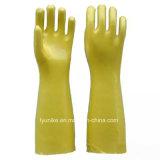 Длинные перчатки Coatd ПВХ промышленности Маслостойкий ПВХ перчатки