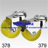 Gelbes Belüftung-Rad-steife Platten-Oberseite-Fußrolle