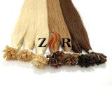 Extensions européennes de cheveux humains de Remy d'extrémité plate de clou de bâton