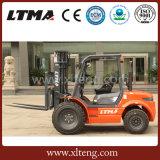 Carretilla elevadora diesel de Ltma ATV 2WD carretilla elevadora del terreno áspero de 3 toneladas