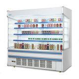 Refrigeratore aperto di Multideck con il tipo congelatore verticale della cortina d'aria della vetrina