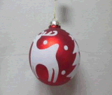Noël un assortiment de bille de verre avec autocollant de cerf rouge et blanc