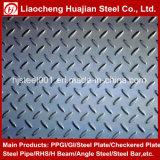 Ss400의 까만 색깔 강철 Checkered 격판덮개