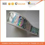 Adesivo personalizado Anti-Fake Papel Autocolante com holograma de impressão de etiquetas de segurança