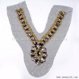 La moda al por mayor Collar de acrílico de cordón de Estrás tejido de hilo de accesorios de prendas de vestir