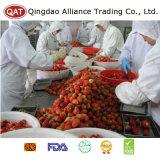 Gefrorene gewürfelte Erdbeere mit gutem konkurrierendem