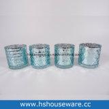 기하학적인 패턴 앙티크 둥근 유리제 촛대