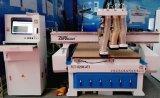 3 cabezas cambian la máquina automática del ranurador del CNC de madera