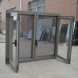 Qualitäts-Puder-überzogenes Aluminiumprofil-Flügelfenster-Fenster mit zusammengesetztem Moskito-Netz K03048