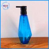 Bouteille de plastique de bouteille de solution de blanchisserie de bouteille de shampooing de cheveu de forme de diamant